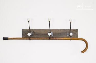 Ceramic hook coat rack