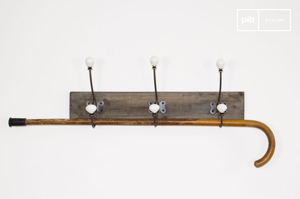 Ceramic hook coat rack