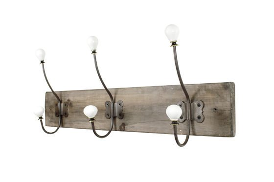 Ceramic hook coat rack Clipped