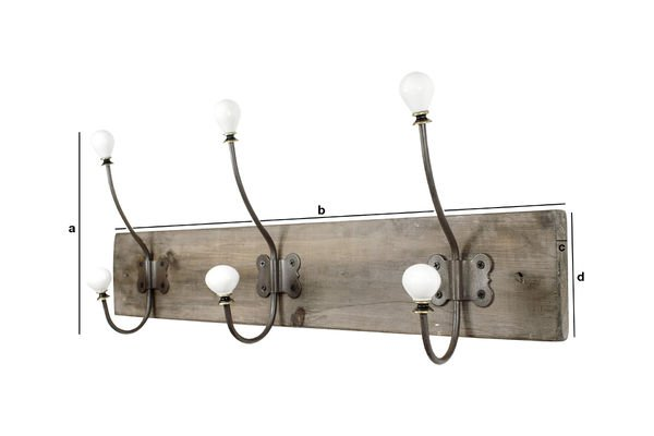 Product Dimensions Ceramic hook coat rack