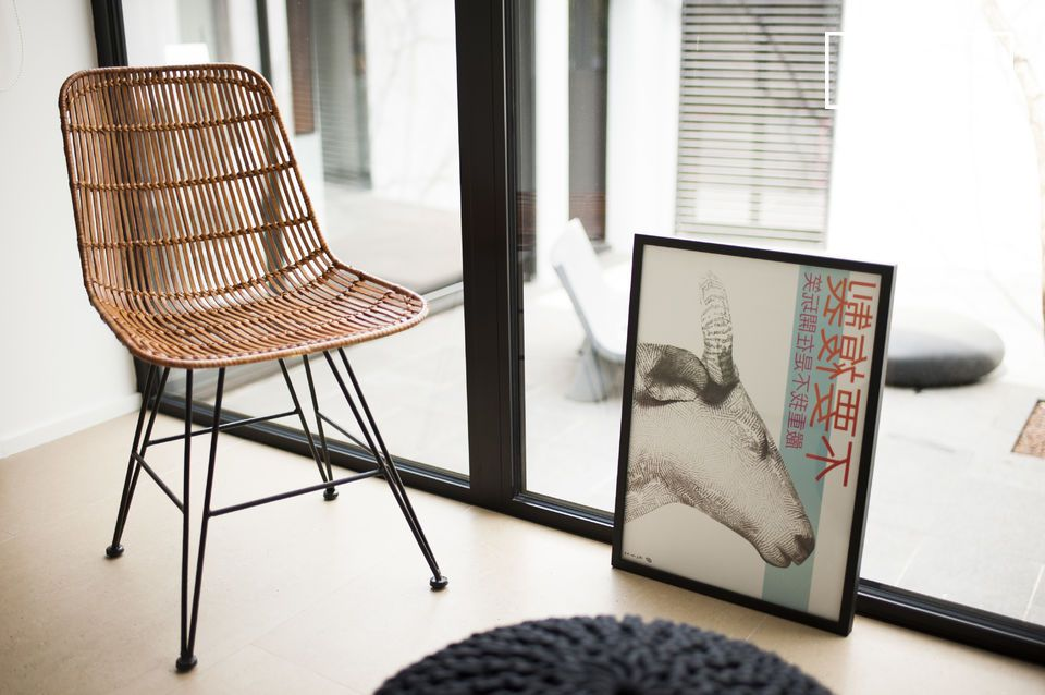 The combination of rattan, metal and vintage design