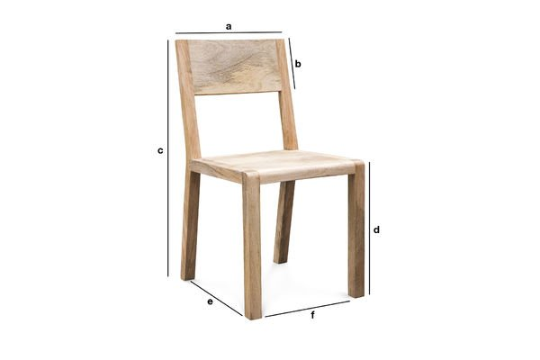 Product Dimensions Chair Möka