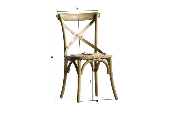 Product Dimensions Chair Pampelune natural finish