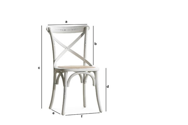 Product Dimensions Chair Pampelune white