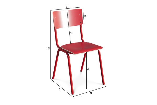 Product Dimensions Chair Skole Red