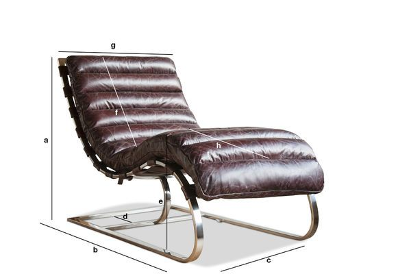 chaise longue weimar structure in chromed steel pib. Black Bedroom Furniture Sets. Home Design Ideas