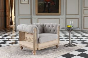 Chesterfield Montaigu grey armchair