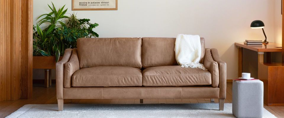 a large selection of leather sofas