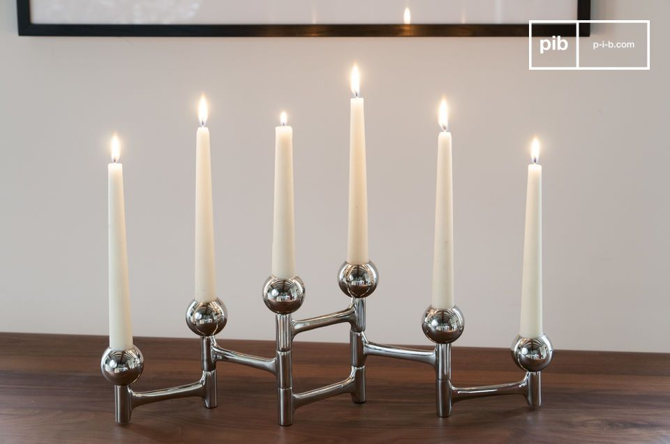 A stylish and versatile accessory for six candles