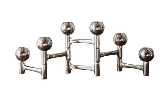 Chrome Candlestick Hexaball Clipped
