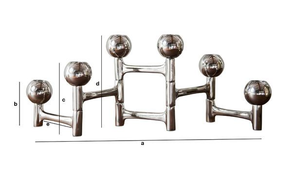 Product Dimensions Chrome Candlestick Hexaball