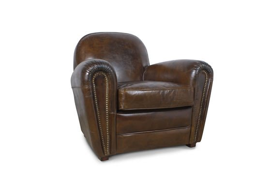 Cigar Club leather armchair Clipped