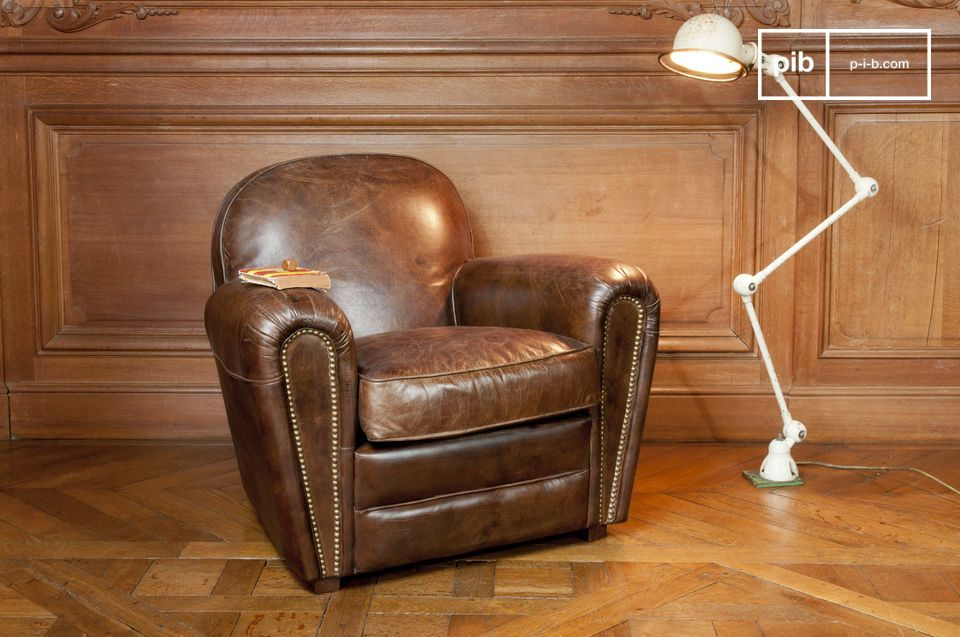 Lovely Cigar Club leather armchair - Very comfortable leather | pib OD05