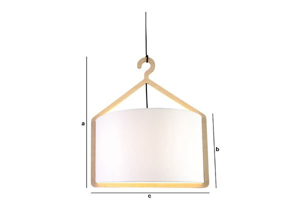 Product Dimensions Cintrée hanging lamp