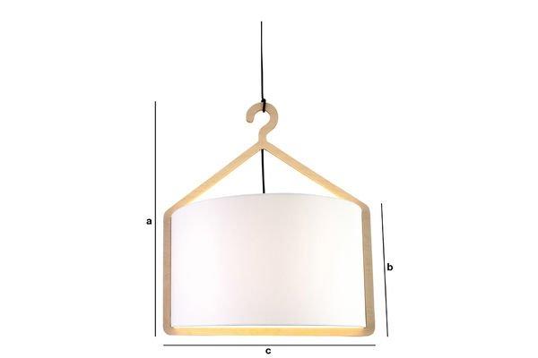 Product Dimensions Cintrée hanging lamp