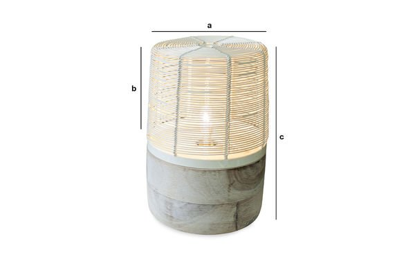 Product Dimensions Cistella table lamp