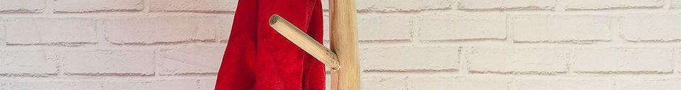 Material Details Coat rack designed with natural teak