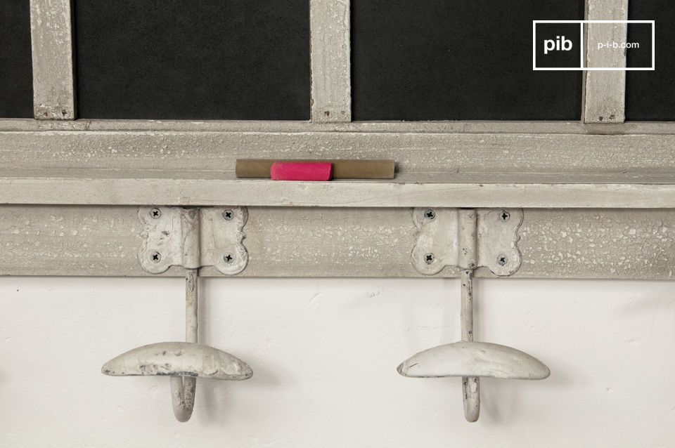 Everyone has their own hook! This coat rack with shelf is a practical and fun accessory where