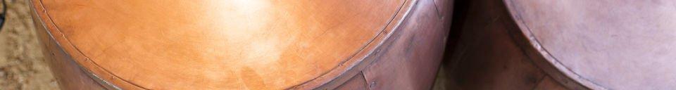 Material Details Cobré pair of tables