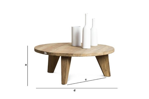 Product Dimensions Coffe table Hërkal