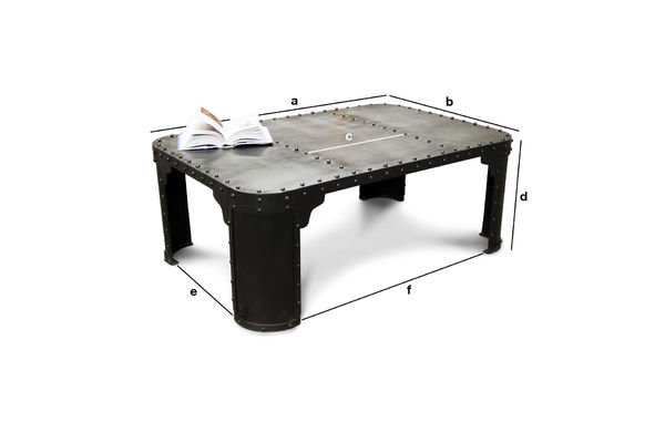 Coffee table brigor the industrial table made of 100 pib - Table basse verre roulette industrielle ...