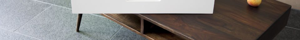 Material Details Coffee table Brown'n White