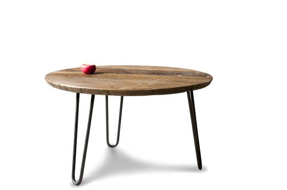 Coffee table club tabletop made of recycled elmwood pib - Petite table basse relevable ...
