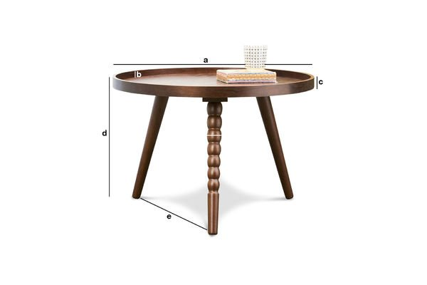 Product Dimensions Coffee table Katalina