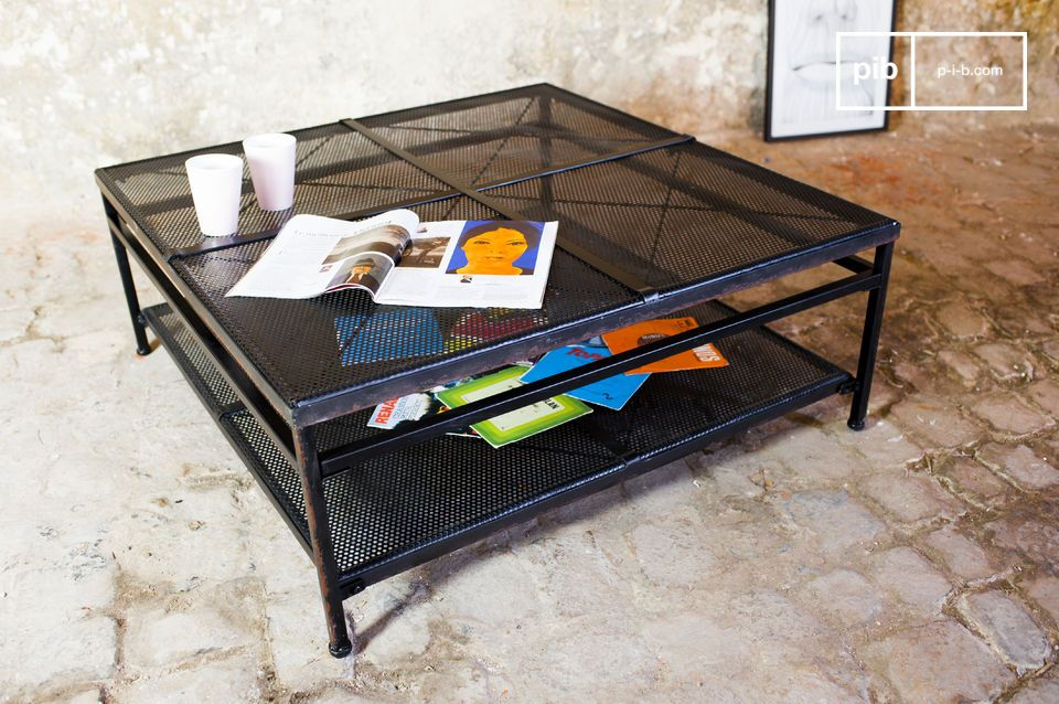 The coffee table Shatar is a perfect example of the industrial vintage furniture design that will