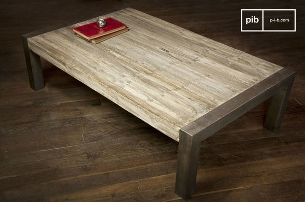 Coffee table with recycled teak