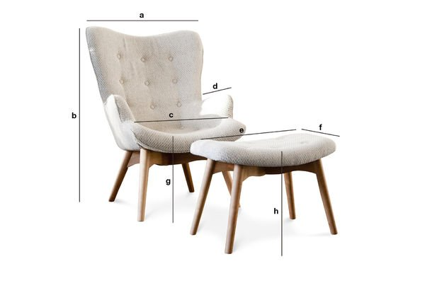 Product Dimensions Colombine Armchair