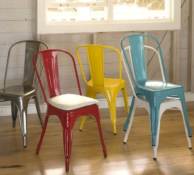 colorful tolix chairs