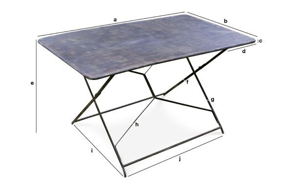 Compiègne garden table - Entirely metal folding table | pib