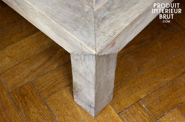 Distressed coffee table legs