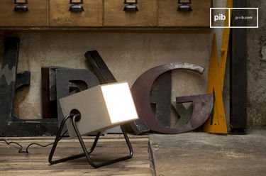 Nessos Table Lamp Designed Entirely In Riveted Metal Pib