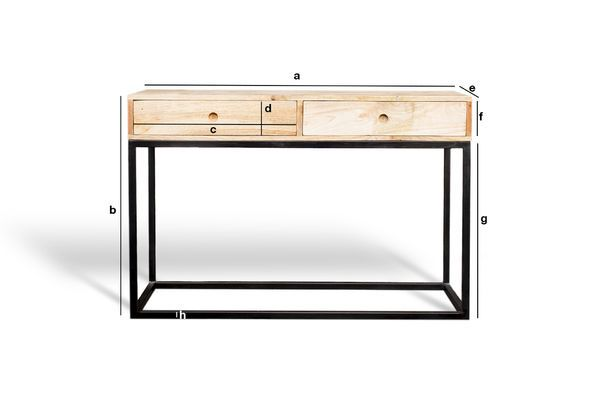 Product Dimensions Console Table Austin