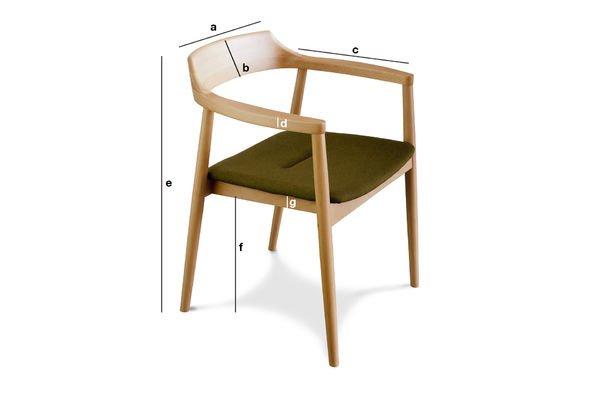 Product Dimensions Copenhagen armchair