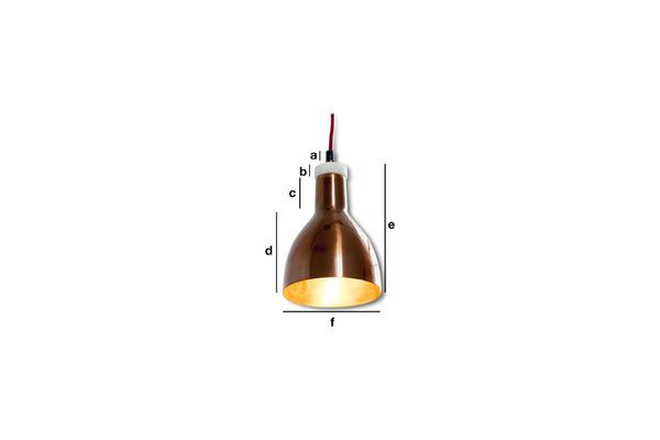 Product Dimensions Copper Design Lamp Bidart