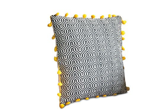 Cotton Cushion Ziggy Clipped