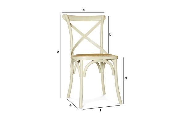 Product Dimensions Cream Pampelune chair