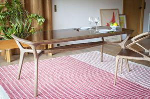 Dagsmark wood and glass dining table