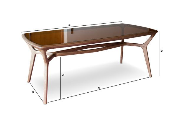 Product Dimensions Dagsmark wood and glass dining table