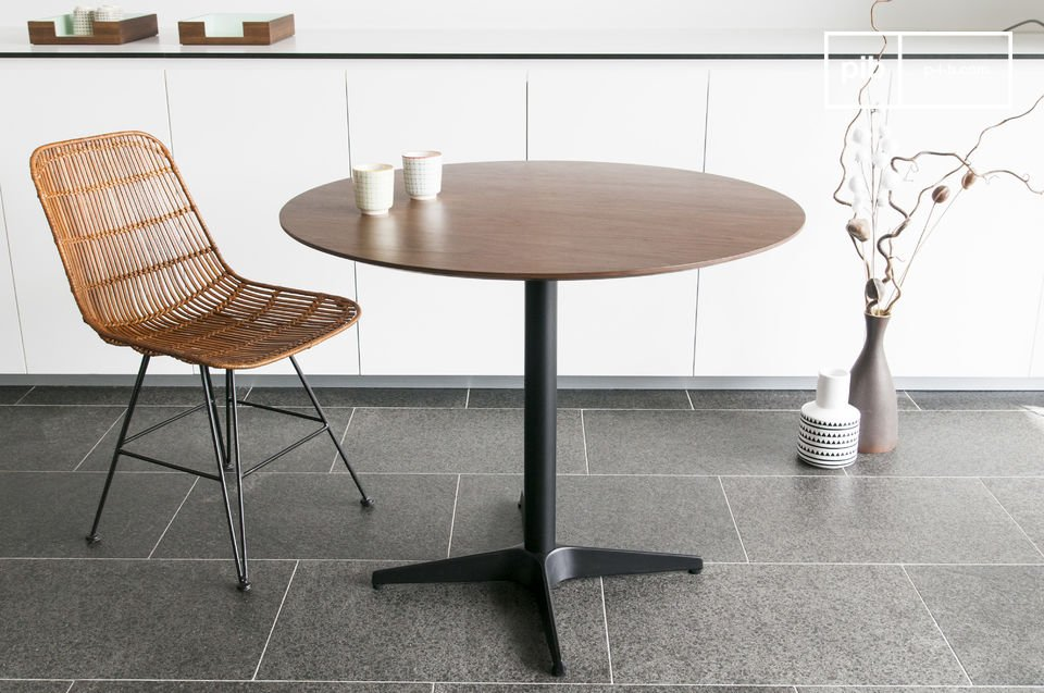 A table with the Scandinavian style of the 60s