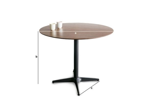 Product Dimensions Daire table