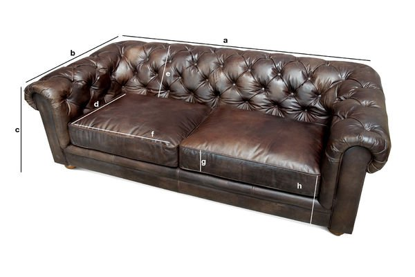 Product Dimensions Dark Chesterfield sofa