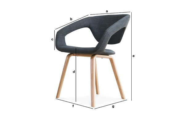 Product Dimensions Dark Tobago armchair