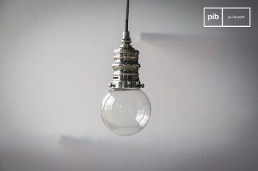 Darwin silver suspension lamp