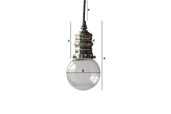 Product Dimensions Darwin silver suspension lamp