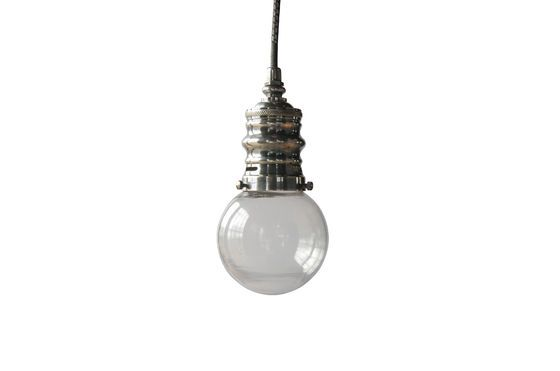 Darwin silver suspension lamp Clipped