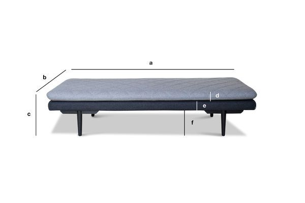 Product Dimensions Daybed Norilsk Bench